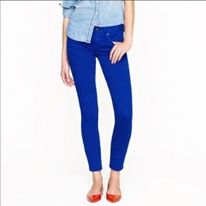 J. Crew toothpick ankle jeans in blue